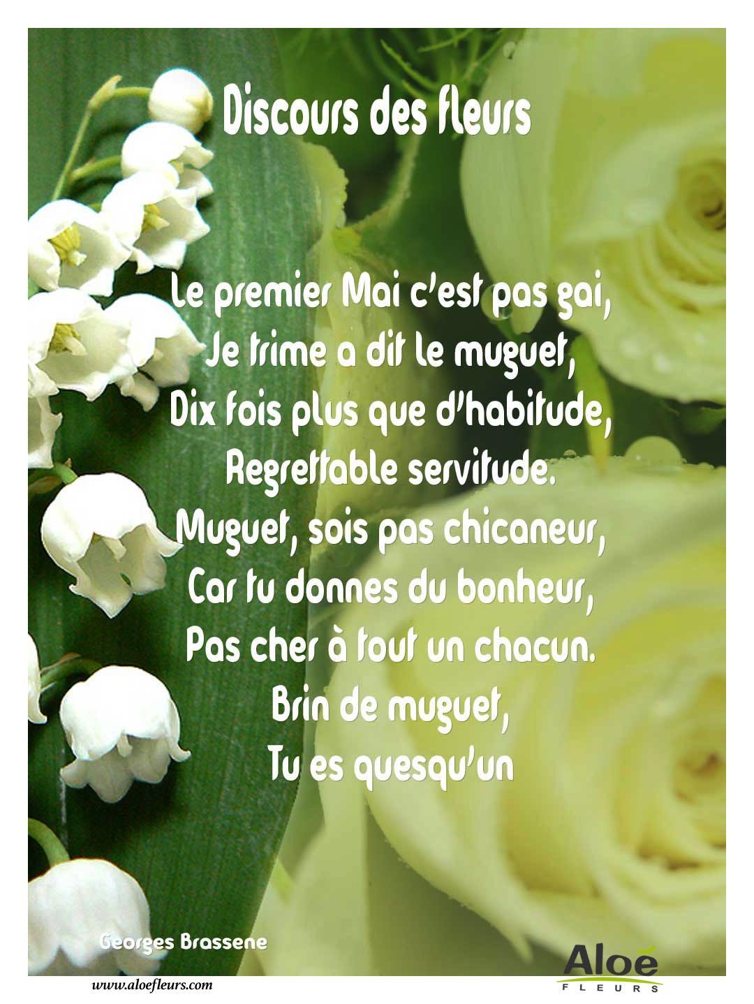 1er mai muguet discours des fleurs aloe fleurs for Bouquet de fleurs humour
