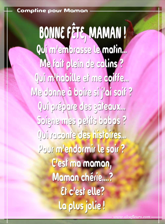 Bonne f te maman po mes ou messages d 39 amour citations ou comptines pour le dire en image - Image fete des mamans ...