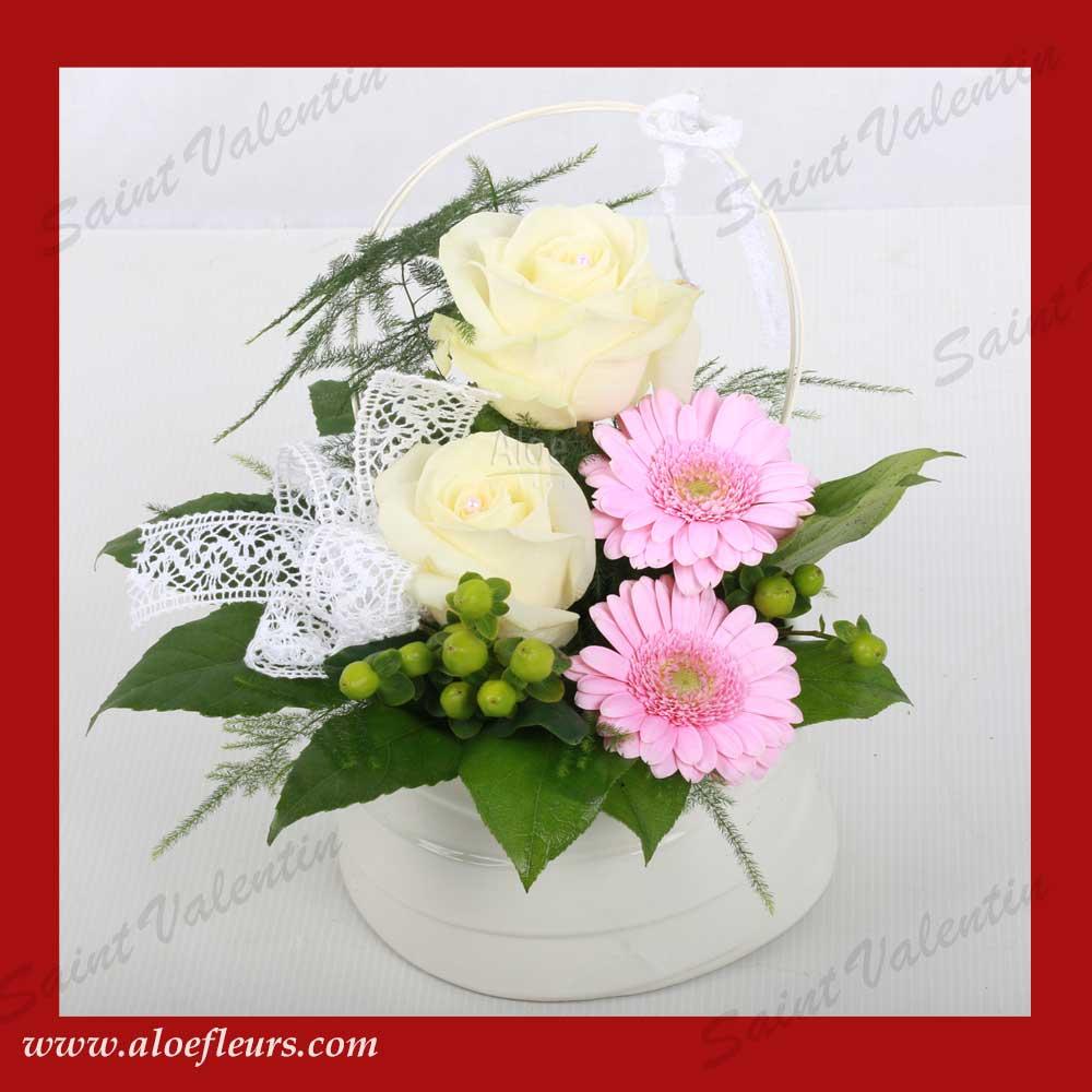 Saisons l art floral pour la saint valentin aloe fleurs - Composition st valentin ...