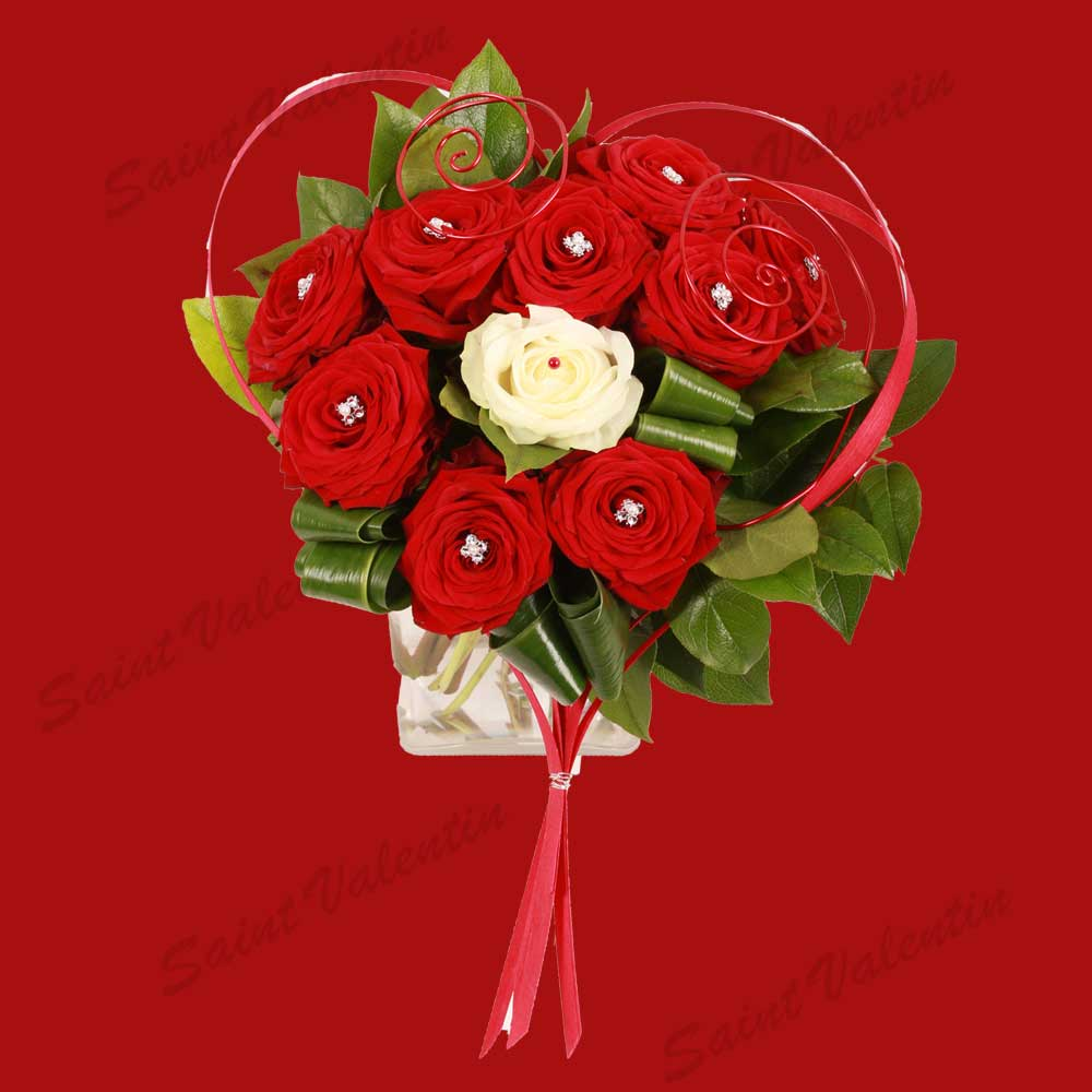 Bouquet saint valentin joli coeur aloe fleurs for Bouquet saint valentin