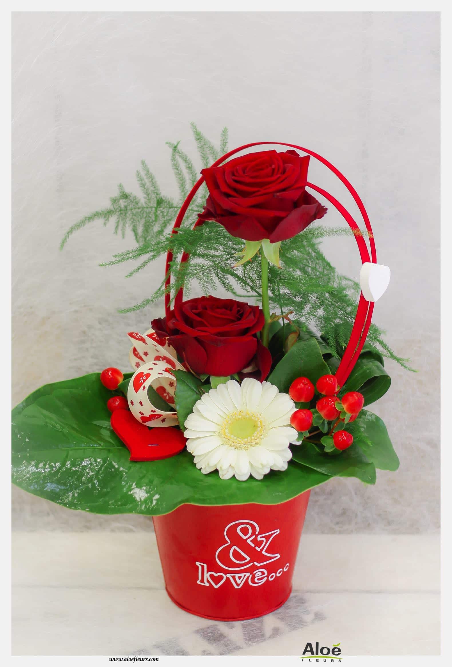 Bouquets Et Compositions De Saint Valentin Aloé Fleurs 2009 26