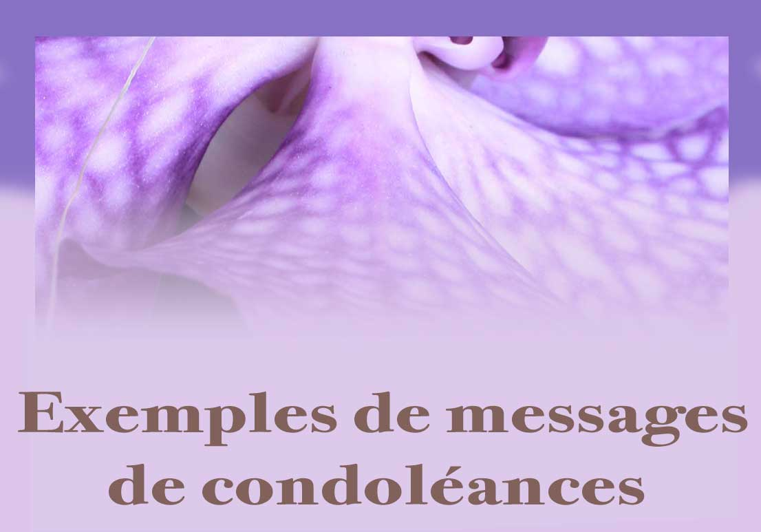 Bouton Message De Condoléances