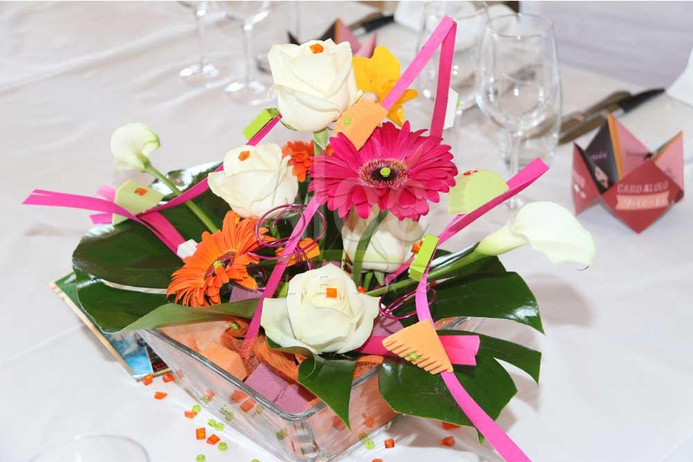 un mariage tendance aux couleurs de feu aloe fleurs. Black Bedroom Furniture Sets. Home Design Ideas