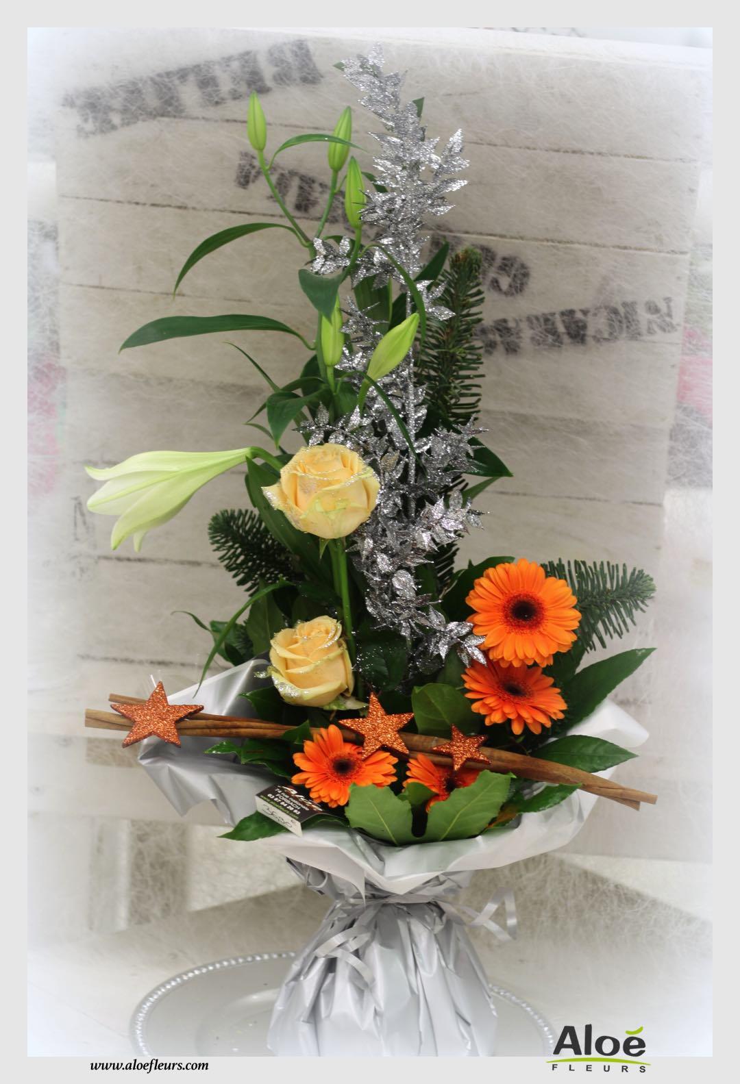 bouquet bulle d 39 eau d coration florale de noel alo fleurs1 aloe fleurs. Black Bedroom Furniture Sets. Home Design Ideas