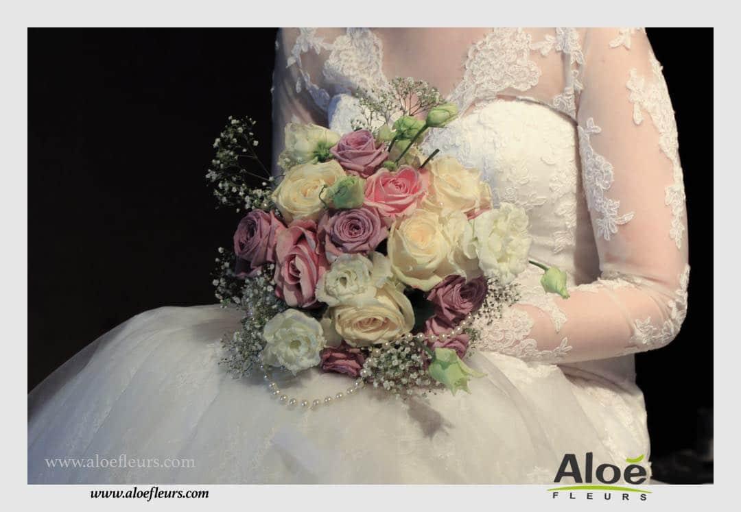 bouquet de mari e mariage boh me chic 7 aloe fleurs. Black Bedroom Furniture Sets. Home Design Ideas
