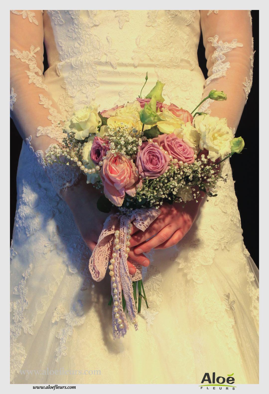 bouquet de mari e mariage boh me chic 8 aloe fleurs. Black Bedroom Furniture Sets. Home Design Ideas