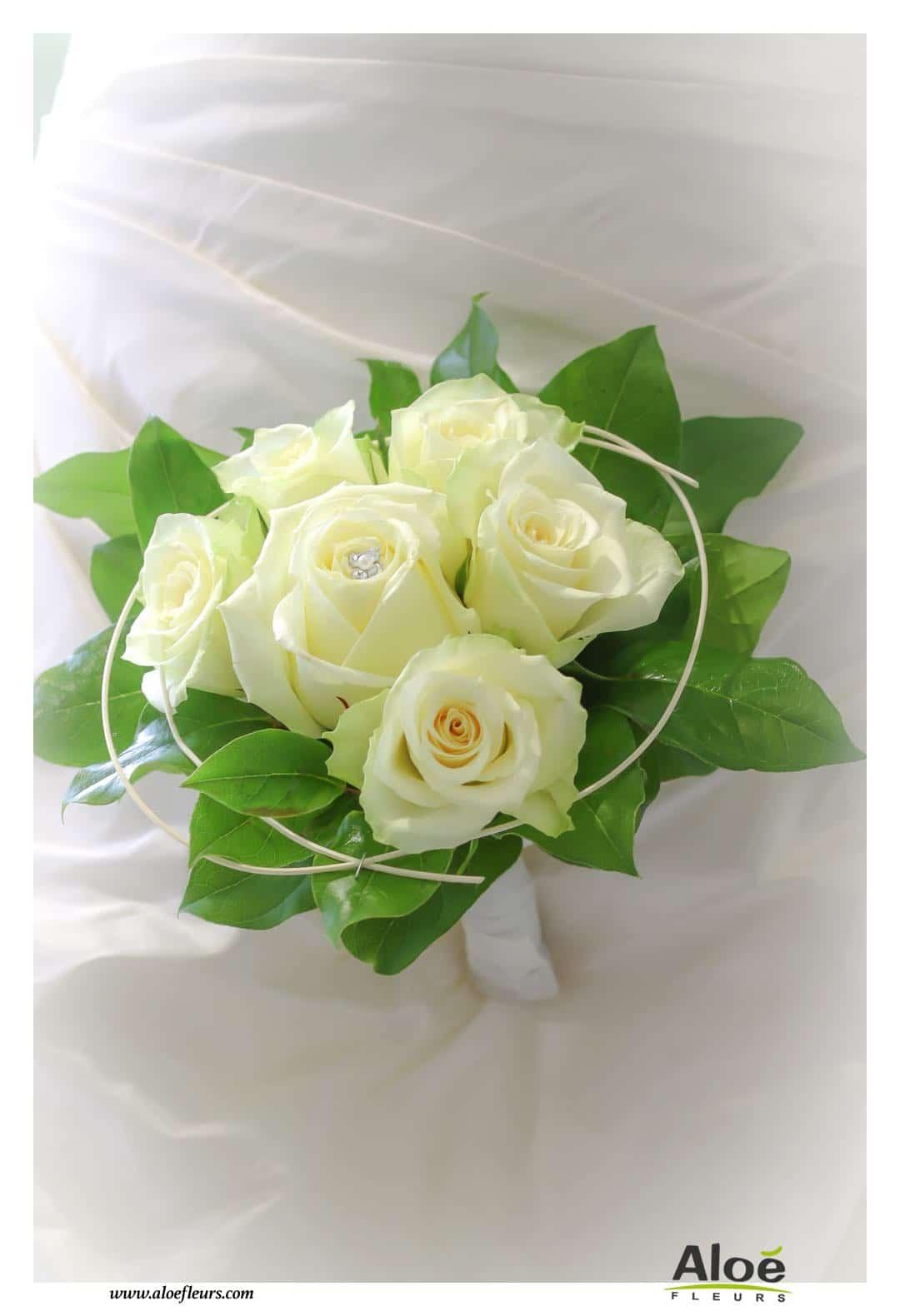 Bouquet de pivoine blanche for Bouquet fleurs blanches