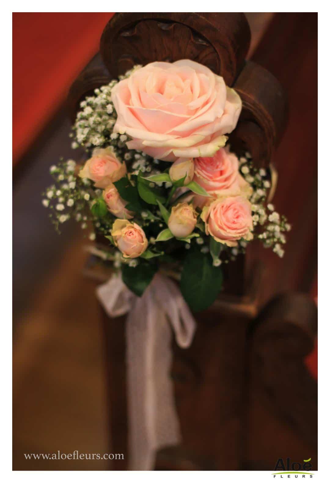 D coration florale d 39 glise aloe fleurs for Bouquet de fleurs lyon