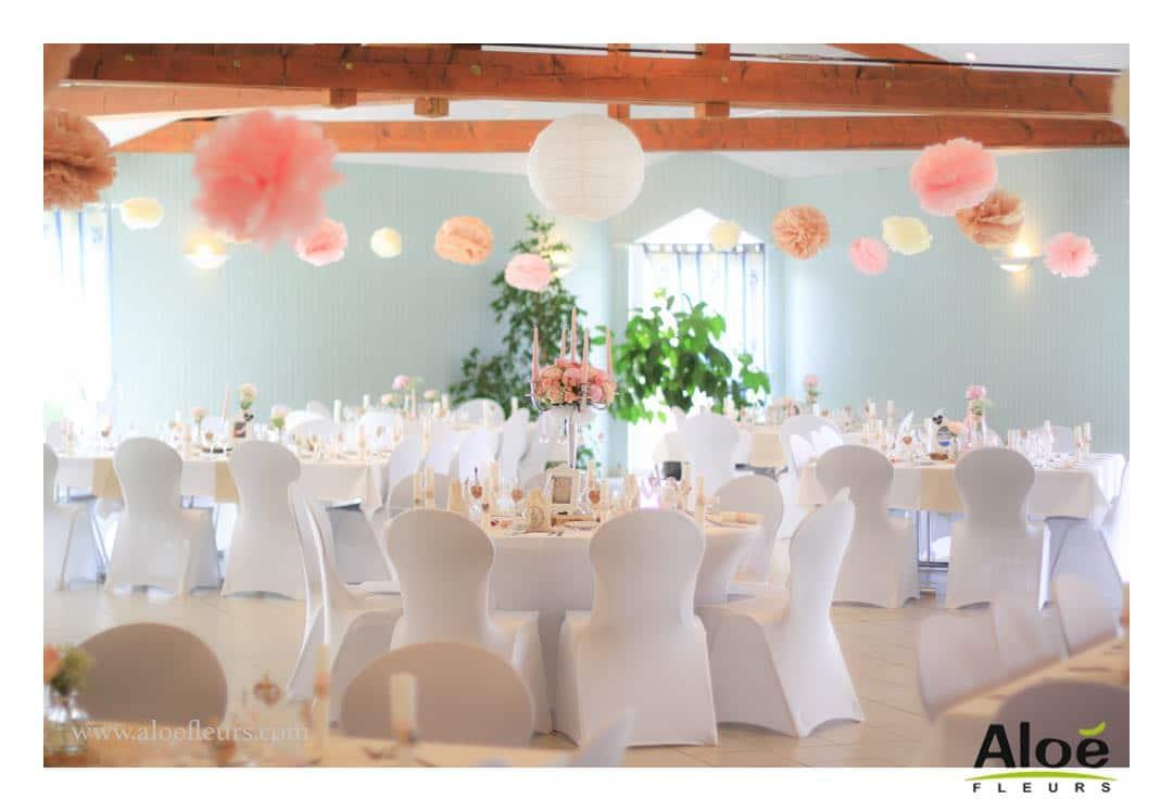 decoration mariage pivoine