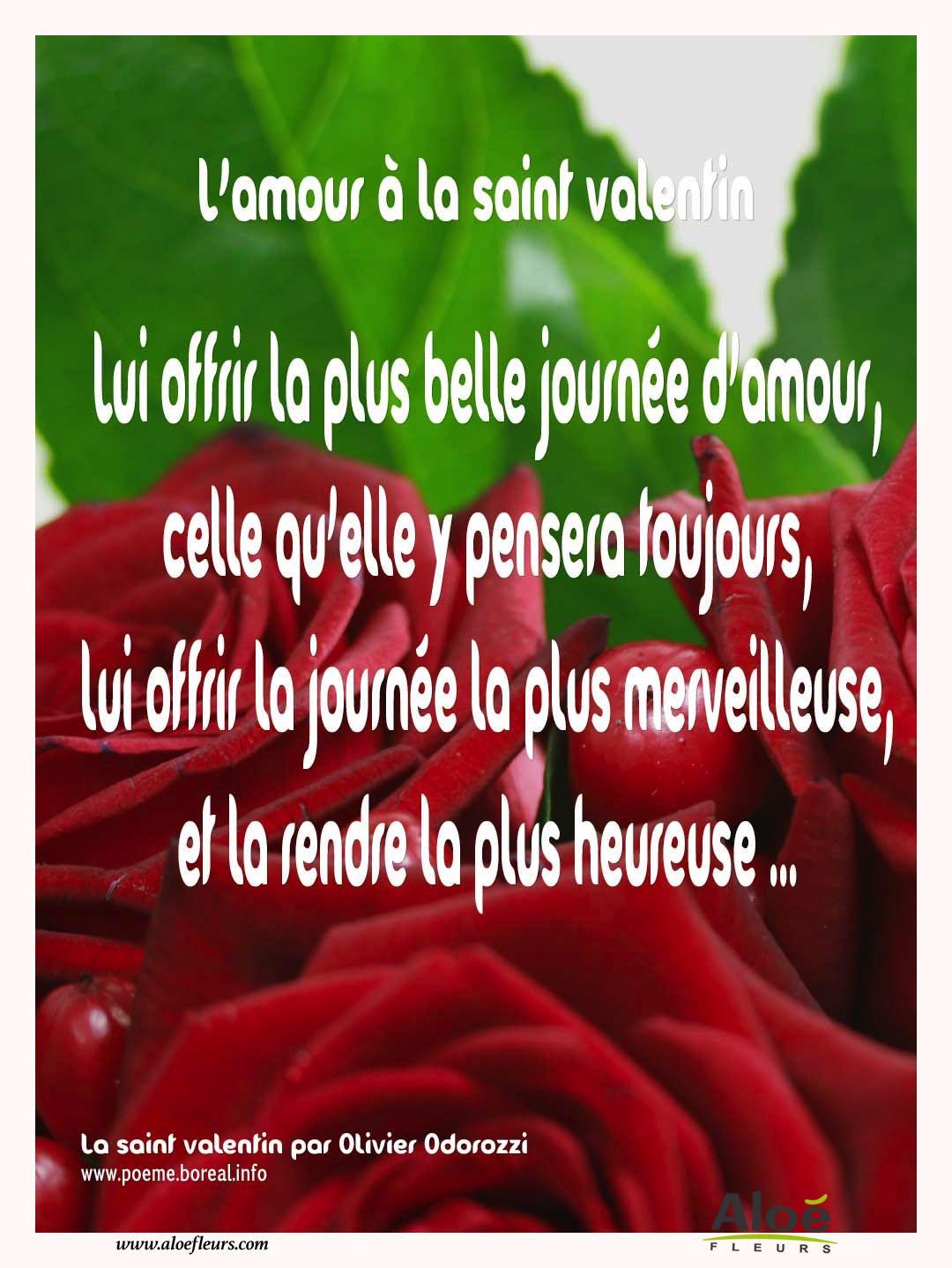 Les po mes de fleurs en images par alo fleurs - Poeme d amour pour la saint valentin ...