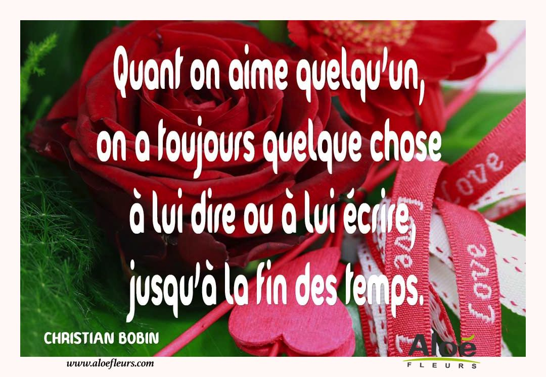 Citations D'amour Et Saint Valentin  Quant On Aime Quelqu'un
