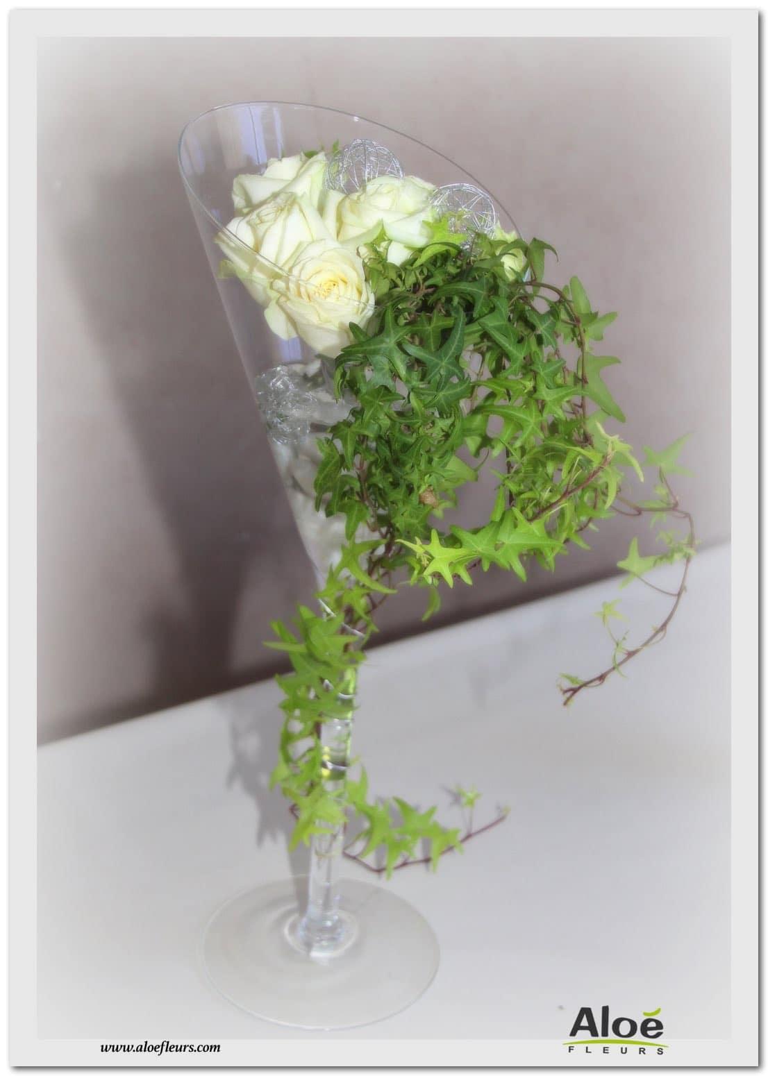composition florale d 39 acceuil et de buffet en verrerie 17. Black Bedroom Furniture Sets. Home Design Ideas
