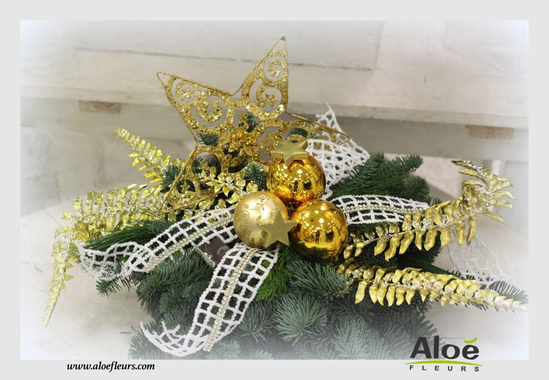 composition florale de noel sapin alo fleurs15 aloe fleurs. Black Bedroom Furniture Sets. Home Design Ideas