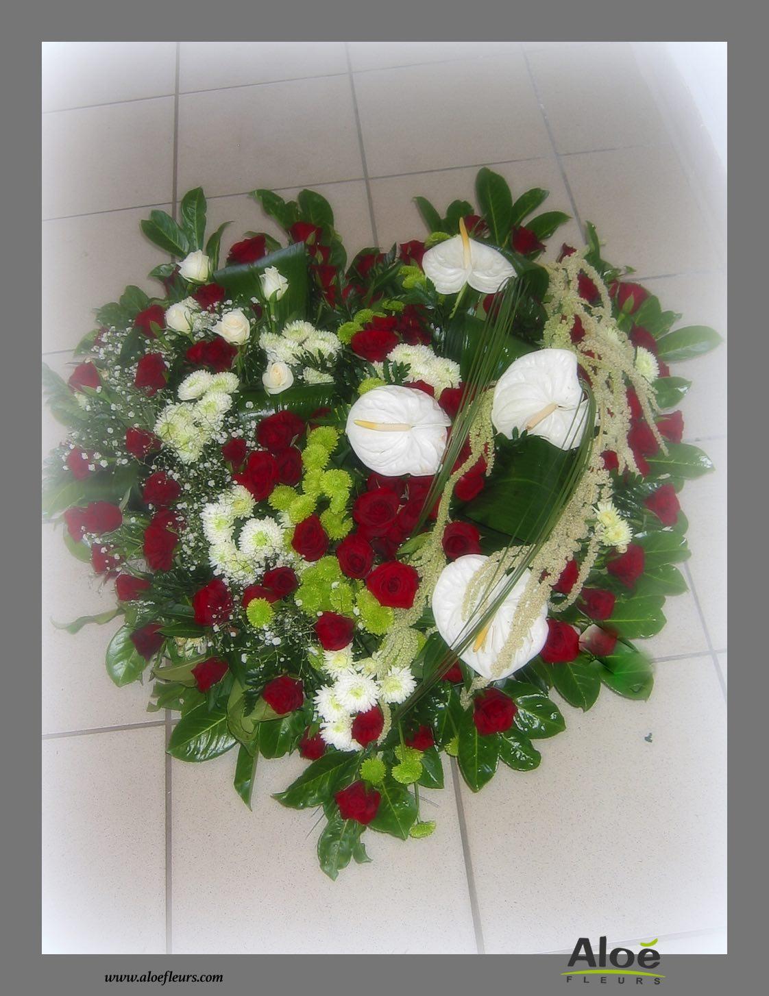 composition florale deuil coeur 5 aloe fleurs. Black Bedroom Furniture Sets. Home Design Ideas
