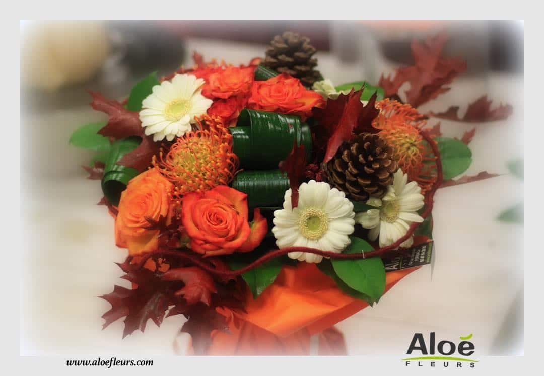 Bouquet De Mariage Saison Automne : Touche de noir profond symbole la peur c est le code couleurs