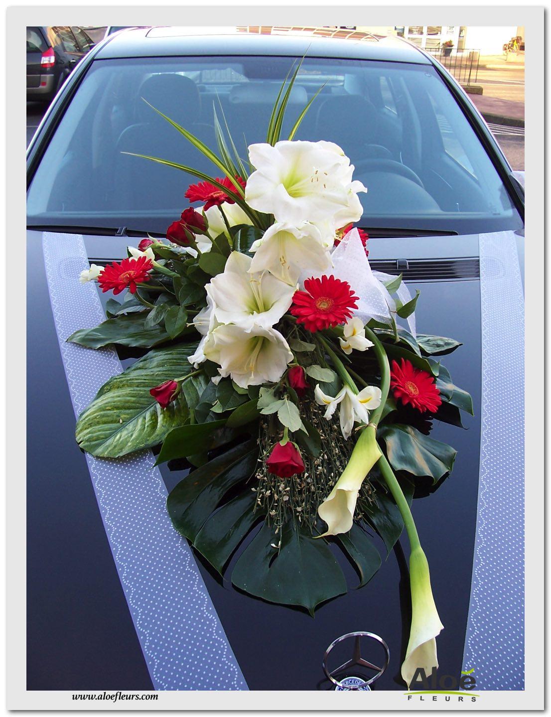decoration fleurs voiture mariage. Black Bedroom Furniture Sets. Home Design Ideas
