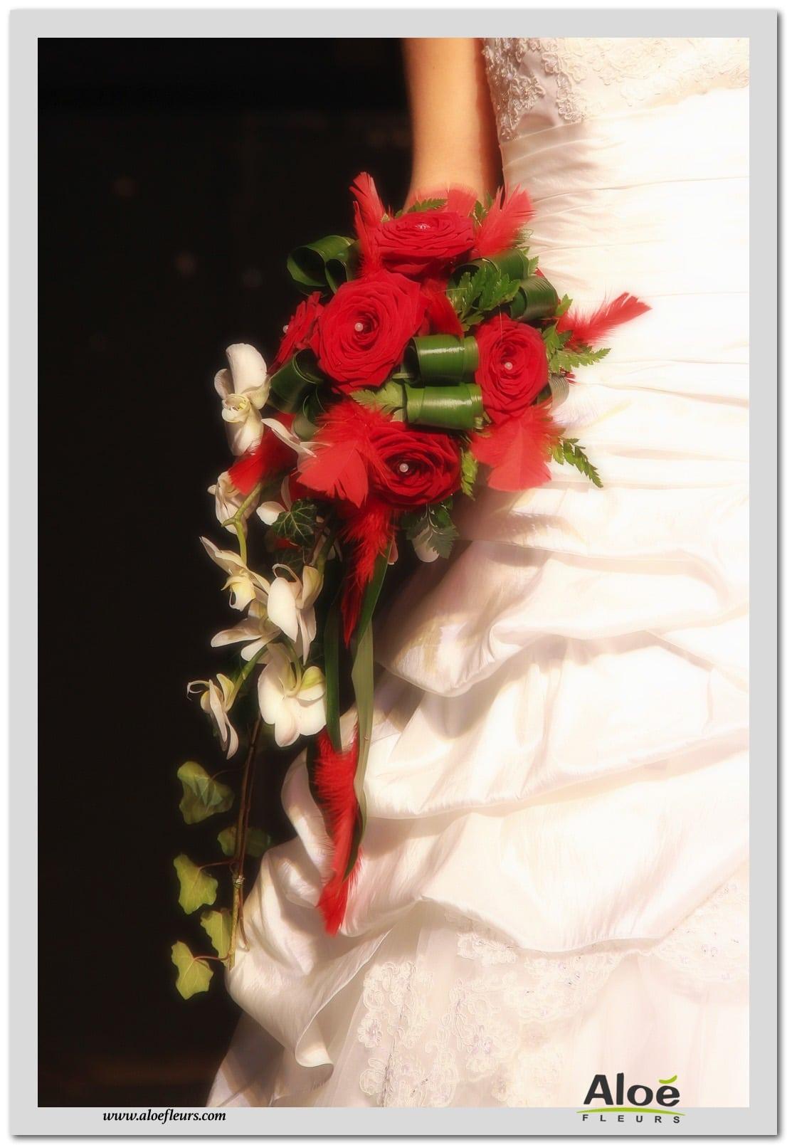 bouquets de mariée cascade en images - aloe fleurs