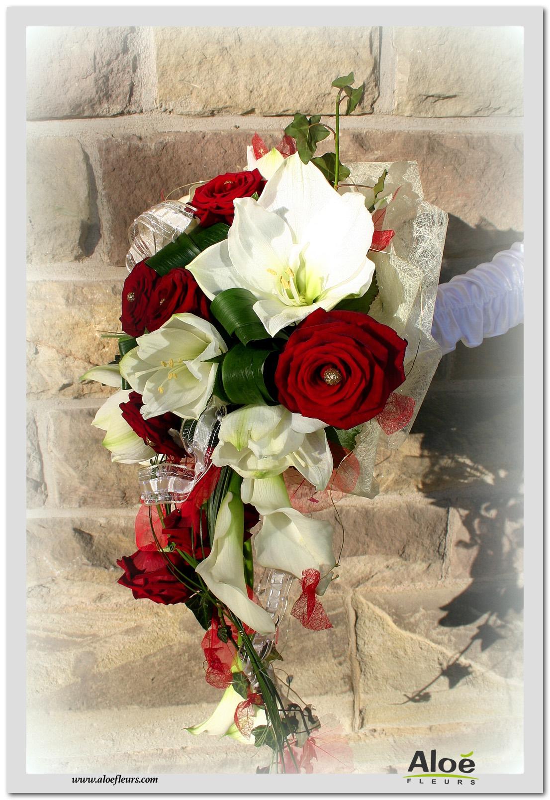 Bouquet De Mariee Rouge Pour Un Mariage Glamour