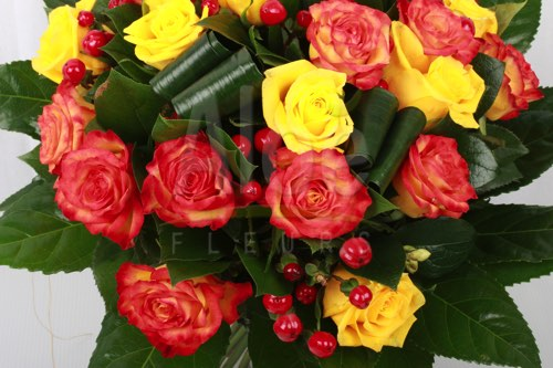 Bouquet Rose Orange & Jaune 500  6