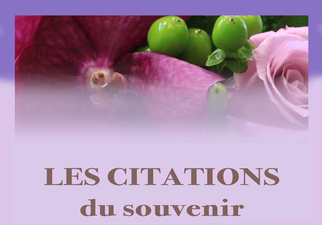 Bouton CITATIONS SOUVENIR DEUIL