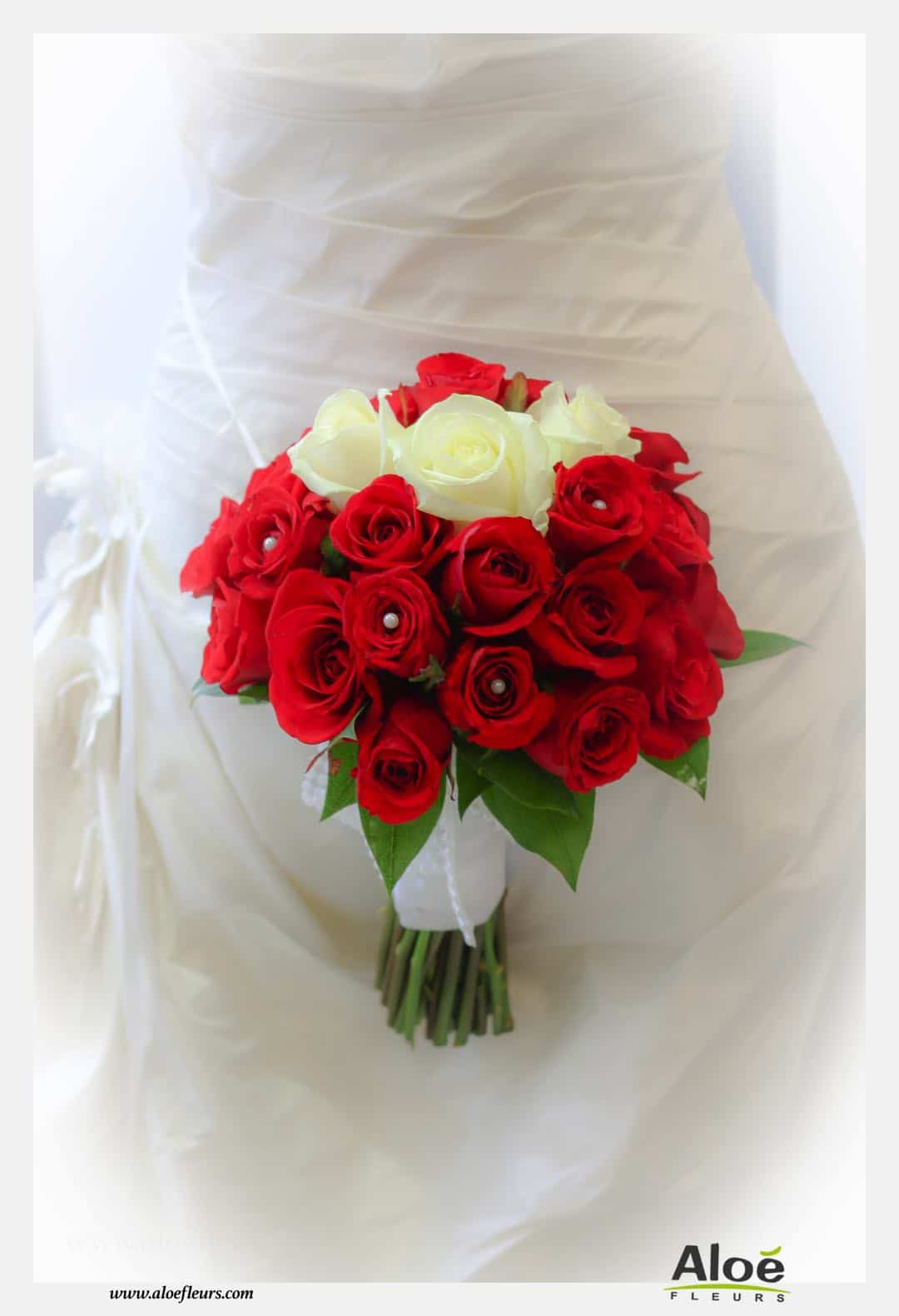 Mariage Tradition Rose Rouge  AloéFleurs    3018