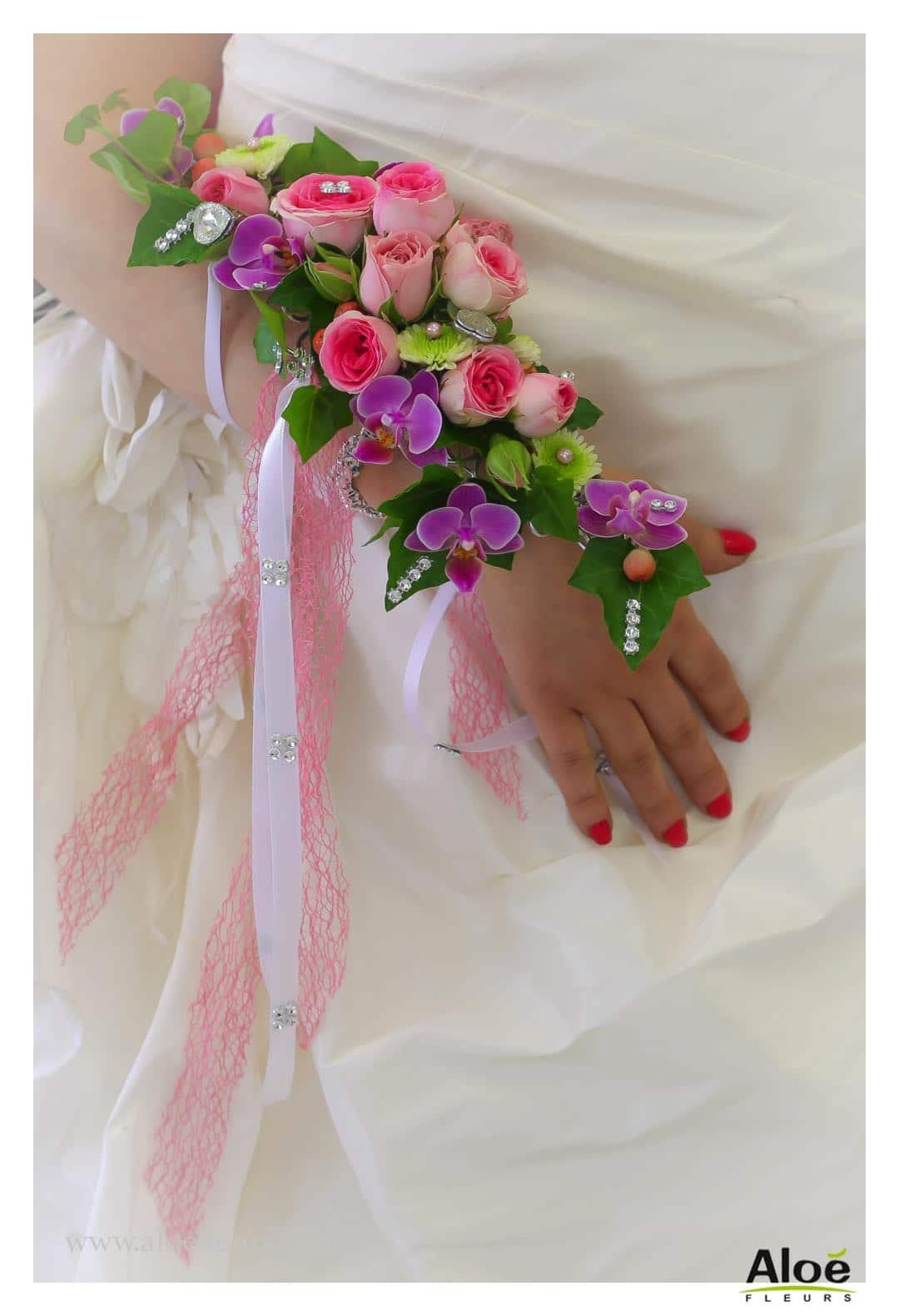 la manchette florale : une idée de bouquet original