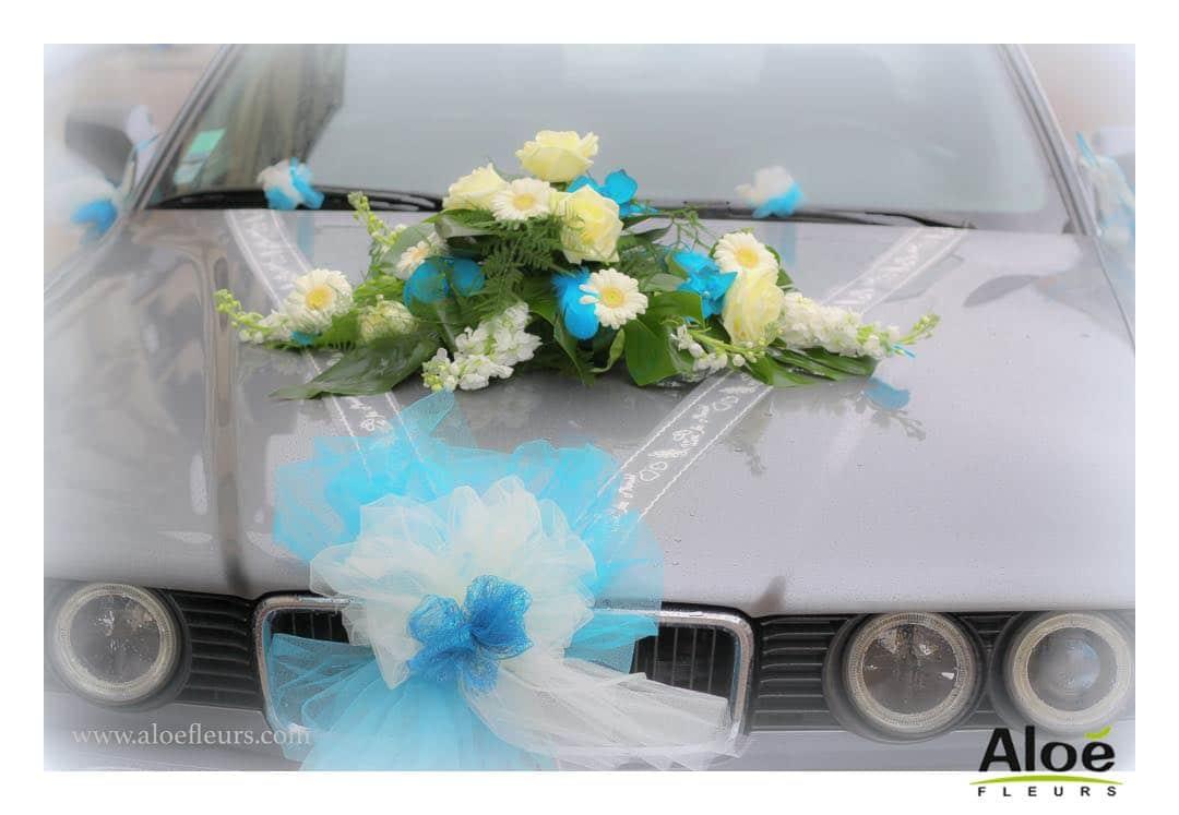 cadre -Bouquet mariée original orchidées bleu turquoise rose freesia et arum blanc aloefleurs.com -9154