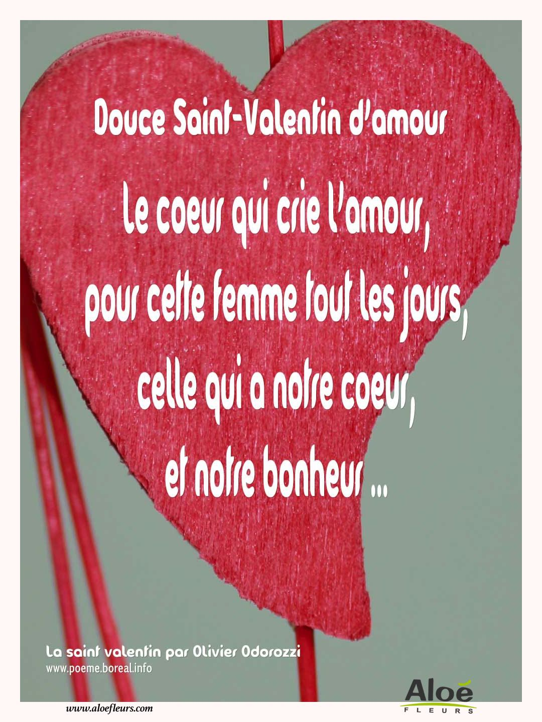 Citations D'amour Et Saint Valentin  Douce Saint Valentin D'amour