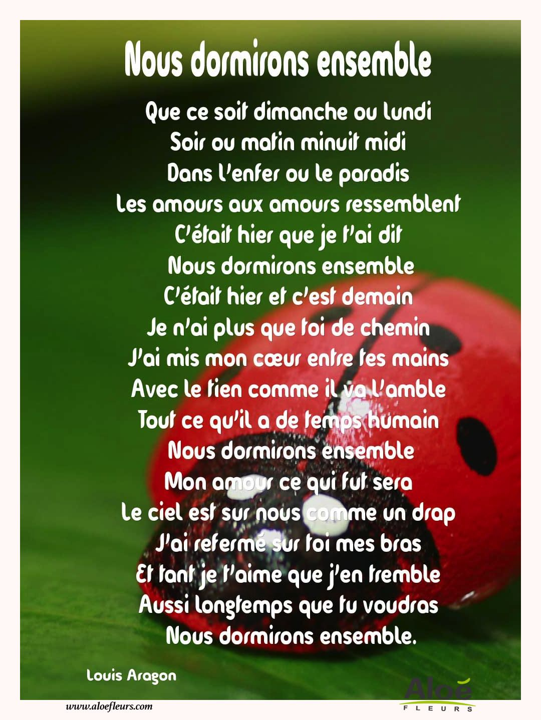 Citations D'amour Et Saint Valentin  Nous Dormirons Ensemble