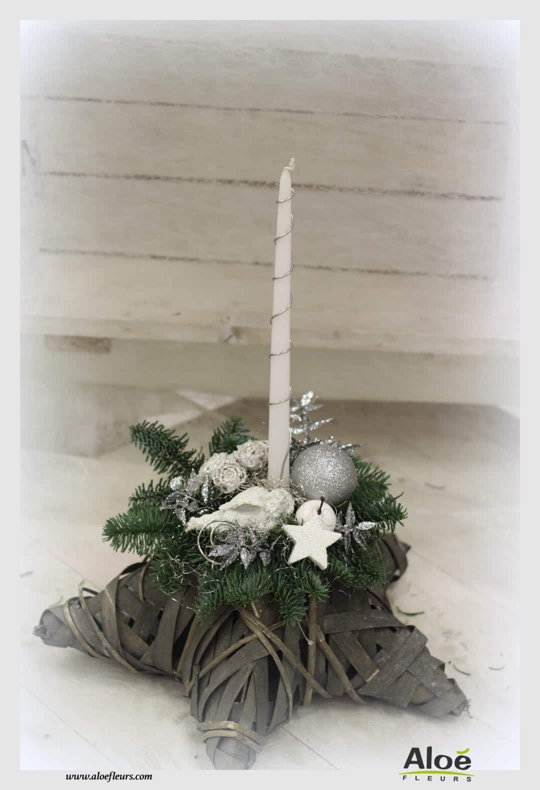 composition florale de noel sapin alo fleurs31 aloe fleurs. Black Bedroom Furniture Sets. Home Design Ideas