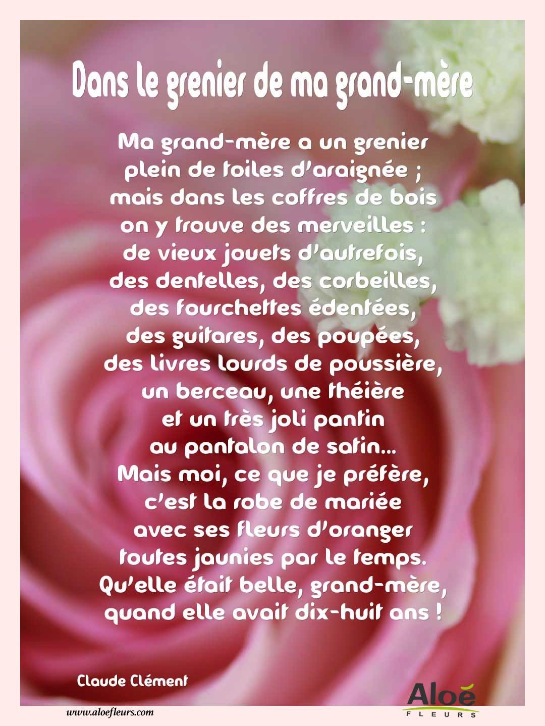 Poemes Fete Des Grands Meres 2016 Aloefleurscom Dans Le