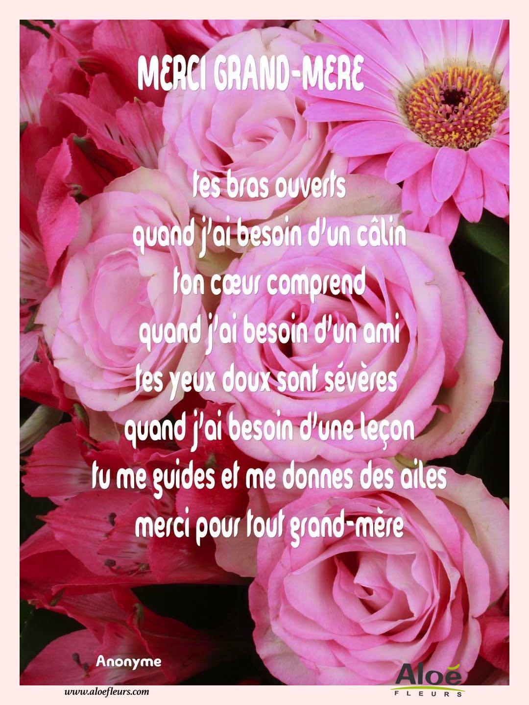 Poemes Fete Des Grands Meres 2016 Aloefleurscom Merci